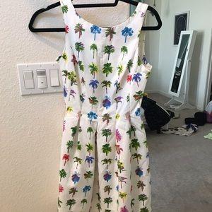 Zara size 2 dress palm trees